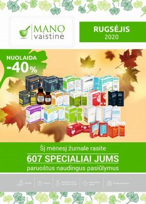 MANO VAISTINĖ (2020 09 01 - 2020 09 30)